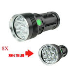 Skyray King 8x  T6 10000Lumens Super Bright LED Flashlightt