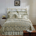 BRIAR SAGE GREEN QUILT SET & ACCESSORIES. CHOOSE SIZE & ACCESSORIES. VHC BRANDS image