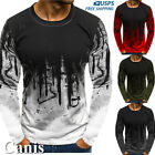 US Men Long Sleeve T Shirt Slim Fit Casual Blouse Tops Summer Clothes Muscle Tee image