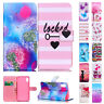Cute Pattern Premium Leather Wallet Magnetic Flip Case For iPhone Xs Max XR 8/7