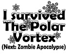 Survived the Polar Vortex Ready for Zombie apocalypse t-shirt Funny Gift