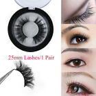 3D 25MM 100% Mink Hair False Eyelashes Thick Long Wispies Fluffy Lsahes New