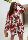 Women Beach Casual Boho Jumpsuit Floral Print Rompers Playsuit Holiday Plus Size