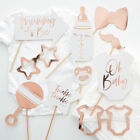 OH BABY Baby Shower Rose Gold Party Supplies Tableware Decorations Gender Reveal