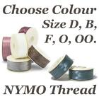 Nymo Thread Size D, B, F, 0, 00, Beading Cord For Jewellery Making X1 Bobbin