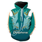 Miami Dolphins Hoodie Small-XXXL 2XL Unisex Men Women Football Sweatshirt Florid on eBay