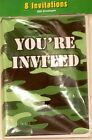 Camouflage Invitations Party Accessories Envelopes You're Invited Celebrate NIP