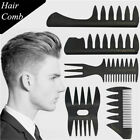 Styling Hairdressing  Tool Durable Barber Shop Hair Brush Fork Comb Wide Teeth