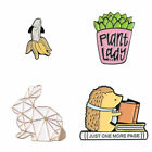 Hedgehog/Banana/Plant/Rabbit Brooch Badge Fashion Clothing Jacket Enamel Pins