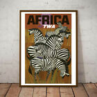 Art Deco A1 A2 or A3 'AFRICA TWA POSTER' Printed on Art SIlk Paper