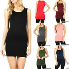 Внешний вид - Womens Extra Long Tank Top Seamless Basic Tunic Stretch Bodycon Mini Dress Slip