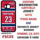 Washington Capitals Personalized Hockey Jersey Phone Case Cover for iPhone etc. $26.98 USD on eBay