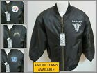 NEW Sz S-3XL Black Full Zip Up NFL Quilted Lining MEN Polyester #33S Coat Jacket $89.99 USD on eBay