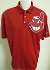 Sz S-3XL Red Cleveland Indians Nike Dri-FIT db MENS Polyester #42V Polo Shirt on Ebay