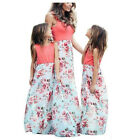 Mother and Daughter Floral Sundress Boho Maxi Dress MommyMe Matching Outfits ZG