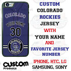 Colorado Rockies Personalize Baseball Jersey Phone Case Cover for iPhone etc. on Ebay