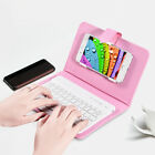 Wireless Bluetooth Keyboard Case Leather Stand Cover for iPhone / Androd Phone E