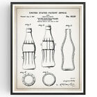Coca Cola Bottle Patent Print Coca-Cola Vintage Coke Poster Wall Art Gift £16.99  on eBay