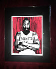 Houston Rockets James Harden - Basketball Hoops Matted Great Art Print - Astros on eBay