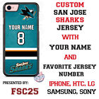 San Jose Sharks Personalized Hockey Jersey Phone Case Cover for iPhone etc. $27.98 USD on eBay