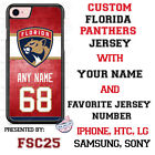 Florida Panthers Personalized Hockey Jersey Phone Case Cover for iPhone etc. $20.98 USD on eBay