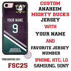 Anaheim Ducks Personalized Hockey Jersey Phone Case for iPhone LG etc. $25.98 USD on eBay