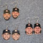 Houston Astros Lance McCullers, Jr.  Jake Marisnick   Marwin Gonzales Earrings on Ebay