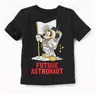 NEW MICKEY Mouse Future ASTRONAUT Toddler Boys Disney Black SPACE Moon Tee Shirt