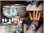 Women's Stainless Steel Promise Fashion Wedding Engagement silver color Rings