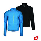 2 x Dare 2b Mens Lightweight Water Repellent Wind Resist Windshell Black + Blue