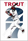 """Los Angeles Angels of Anaheim - Mike Trout """"27"""" -13x19 Baseball Poster Print LA on Ebay"""