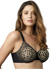 NWT OLGA WOMENS SHEER LEAVES MINIMIZER UNDERWIRE BRA 35519 $36