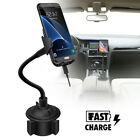 Automatic Clamping Wireless Car Charger Fast Charging Mount For iPhone Samsung `