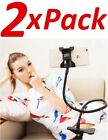 2x Flexible Clip Mobile Cell Phone Holder Lazy Bed Desktop Bracket Mount Stand