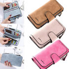 Women Leather Wallet Clutch Purse Bifold Ladies Checkbook Card Holder Organizer image