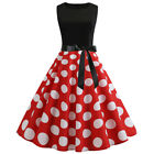 Women Vintage 50s Rockabilly Swing Skater Dress Evening Party Cocktail Pinup US