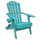 Outer Banks Value Line Poly Lumber Folding Adirondack Chair W/ Cupholder