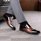 Men Formal Oxford Zipper Leather Loafers Pointed Toe Casual Shoes