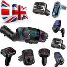 Car Bluetooth Fm Transmitter Adapter Usb Stick Micro Sd Aux Handsfree Uk