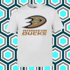 Anaheim Ducks Hockey Logo Men's White T-Shirt Size S M L XL 2XL 3XL $19.34 USD on eBay