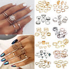 Fashion Silver Gold Boho Stack Plain Above Knuckle Ring Midi Finger Rings Set image