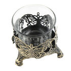 Iron Glass Candle Holder Coffee Table Decorative for Dining Table Decoration