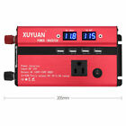 4000W Portable Car LED Power Inverter WATT DC 12V to AC 110V Converter Charger