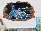 Detroit Lions Fottball NFL Custom Smashed 3D Wall Decal Sticker Vinyl AH56 on eBay