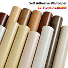 New Self Adhesive Wood Grain Wallpaper Bedroom Stickers Background Home $11.64 USD on eBay