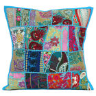 Embroidered Cushion Cover Cotton Pillow Cushion Case Throw Sofa Decor Square 18""
