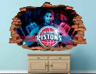 Detroit Pistons Basketball NBA Custom Smashed 3D Wall Decal Sticker Vinyl AH24 on eBay