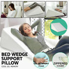 Relax Soft Cool Gel Foam Bed Wedge Pillow Cushion Neck Back Support Sleep+Cover