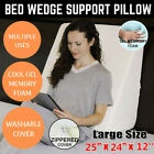 Relax Soft Cool Gel Foam Bed Wedge Pillow Cushion Neck Back Support Sleep+Cover image