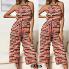 Women Casual Sleeveless Wide Leg Jumpsuit Ladies Evening Party Long Playsuit US